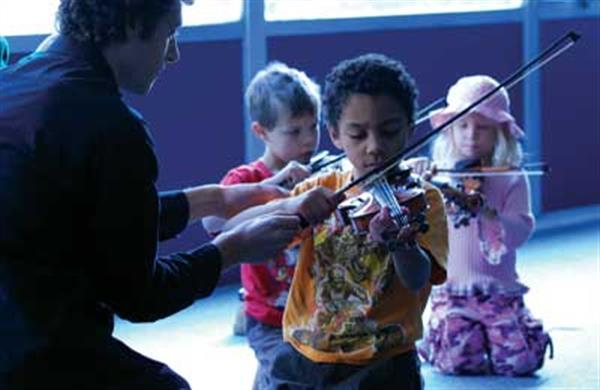 First violin lesson.