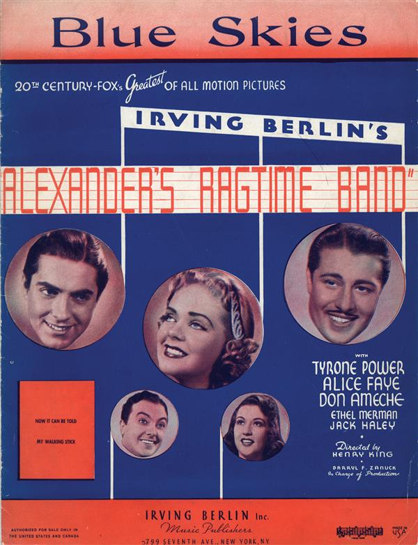 Blue Skies - Alexander's Ragtime Band